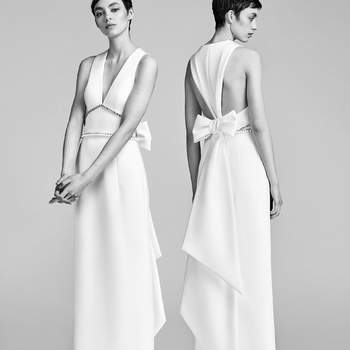 Inverted V-Back Bow Column. Credits- Viktor and Rolf.