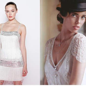 Robe Jenny Packham mariée. Photo: Jenny Packham Et robe transparente avec jupon. Photo: confesionesdeunaboda.blogspot.com