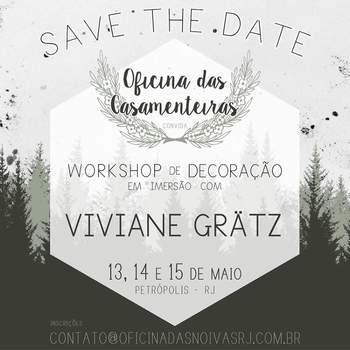 A datas do workshop organizado por Nici Guedes e Viviane Grätz. Foto: Divulgação