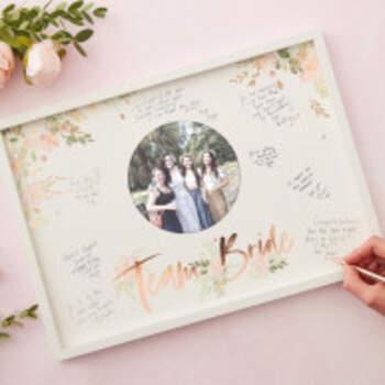 Livre D'or Floral Team Bride Cadre - The Wedding Shop !