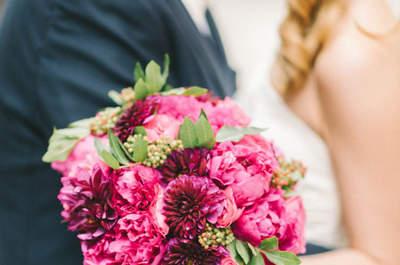 Románticos diseños de ramos de novia con peonías. ¡La mejor opción!