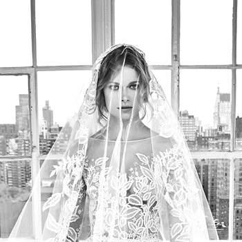 Deborah with veil. Credits- Zuhair Murad.