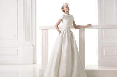 Tu vestido de novia con dibujos hilados: ¡Prueba con encajes, bordados y estampados!