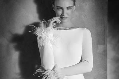 Brautkleider aus Federn: schicke und fantasievolle Hochzeitsstylings