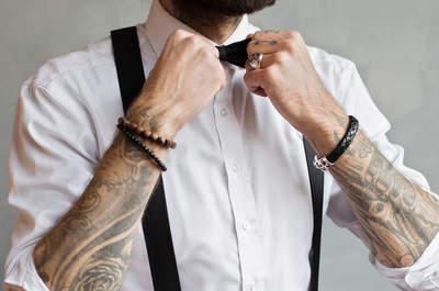 Hosenträger als Must-have für den Bräutigam! Auf die Details kommt es eben an