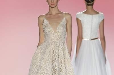 La sofisticación y delicadeza de las novias de Hannibal Laguna 2015