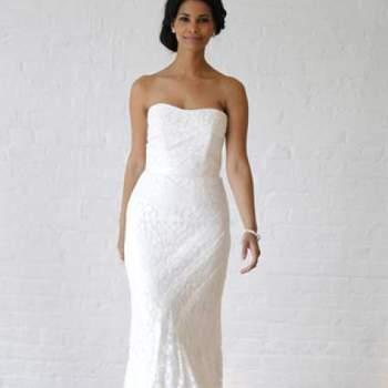 Raffinée et féminine. Crédit photo : Robe de mariée David´s Bridal 2013  New York Bridal Fashion Week, printemps 2013.