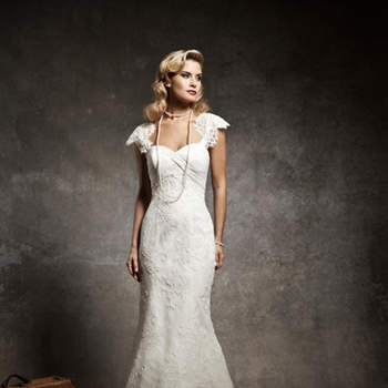 Vestido de noiva Justin Alexander 2013: modelo slim.