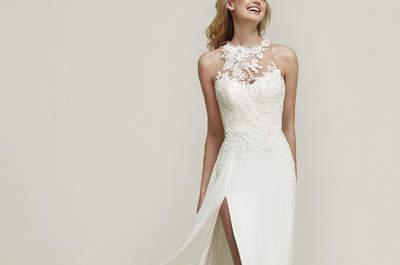Vestidos de novia para mujeres delgadas. ¡Más de 60 diseños espectaculares que te harán lucir perfecta!