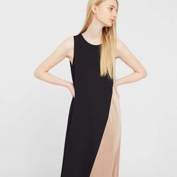 Vestido combinado bicolor da Mango (39,99€)