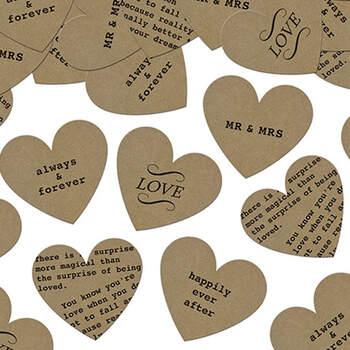 Confeti de corazones vintage - The Wedding Shop
