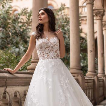 Vestido de noiva modelo Griffith da coleção Pronovias 2021 Cruise Collection