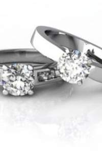 Diamonds are girls best friend - Eheringe mit Diamanten