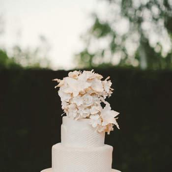 Inspiração para bolos de casamento de 2 andares | Créditos: Emily Blake Photography