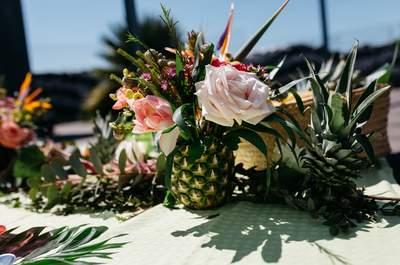 Une inspiration tropicale pour un elopement chic et coloré