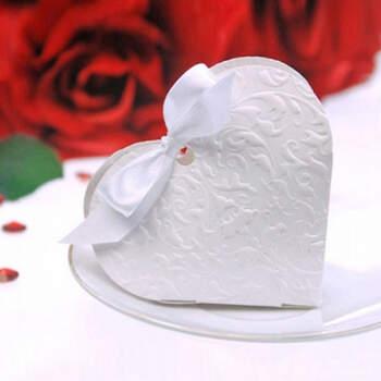 Caja Corazón Blanco 10 Unidades- Compra en The Wedding Shop