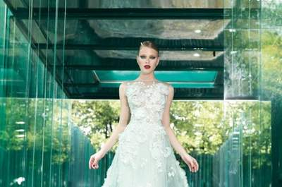 Joyas tejidas en alta costura: Los vestidos de novia 2015 de YolanCris y su deleite estético