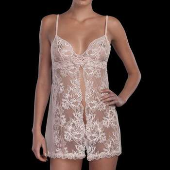 Baby doll in pizzo bianco