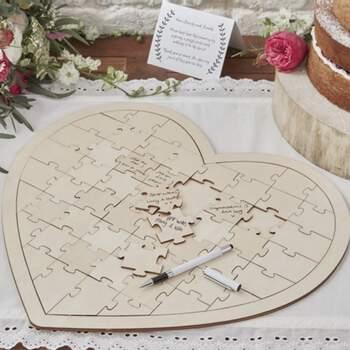 Livre D'or Coeur Puzzle - The Wedding Shop !