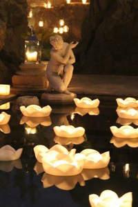 Decoración de boda con velas 2017