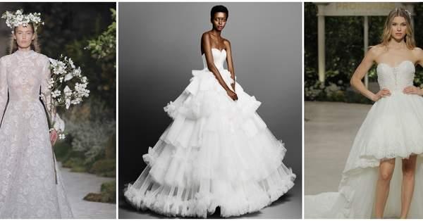 5acf18d45 40 vestidos de novia para mujeres altas  diseños para brillar y cautivar