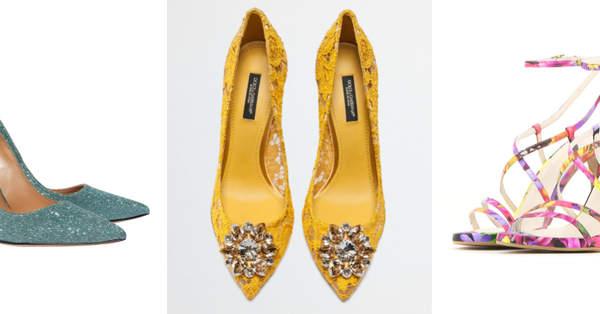 0dc7c2dc912b 40 tipi di scarpe per le invitate di nozze  un tripudio di stile e colore!