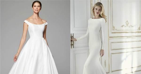 promo code 32d37 7c0c5 Minimalistische Brautkleider – Wer es lieber schlicht mag ...