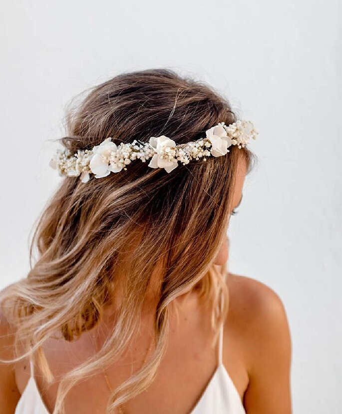 Couronne de fleurs de mariage