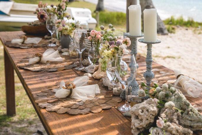 Decoração para casamento na praia