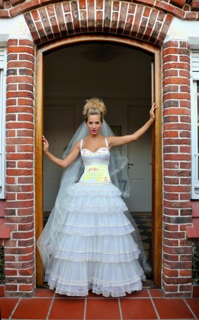 El vestido de novia de Luisana Lopilato en Argentina