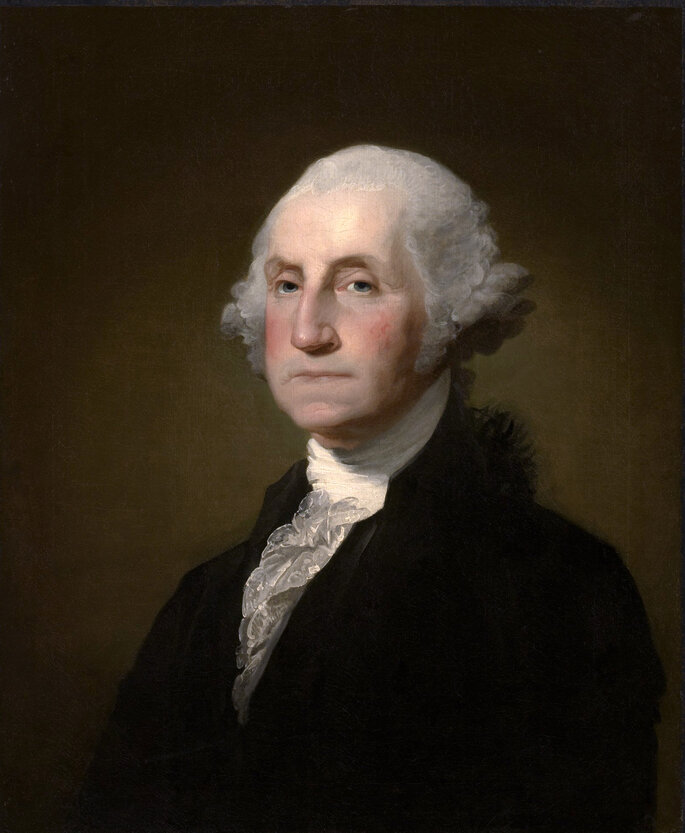 Retrato de George Washington, de Gilbert Stuart