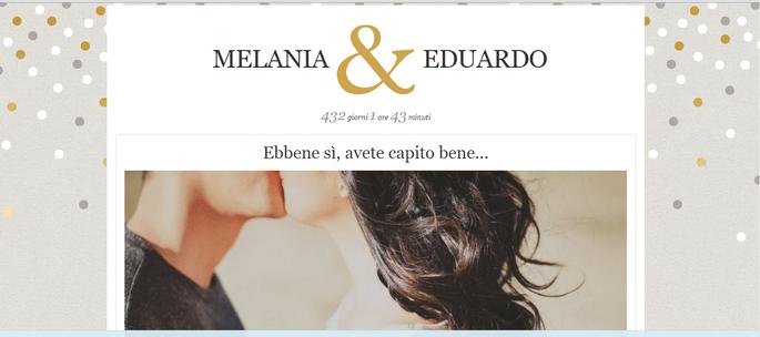 Sito web per matrimonio