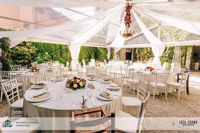 Palazzo Acampora - banchetto nuziale nel patio