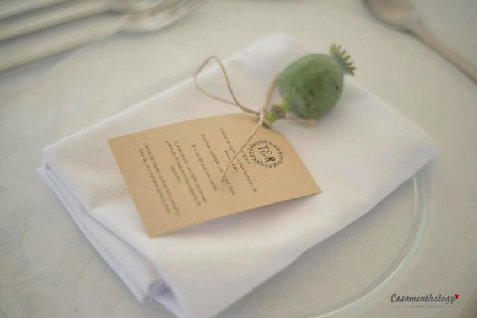 menu de casamento rustico