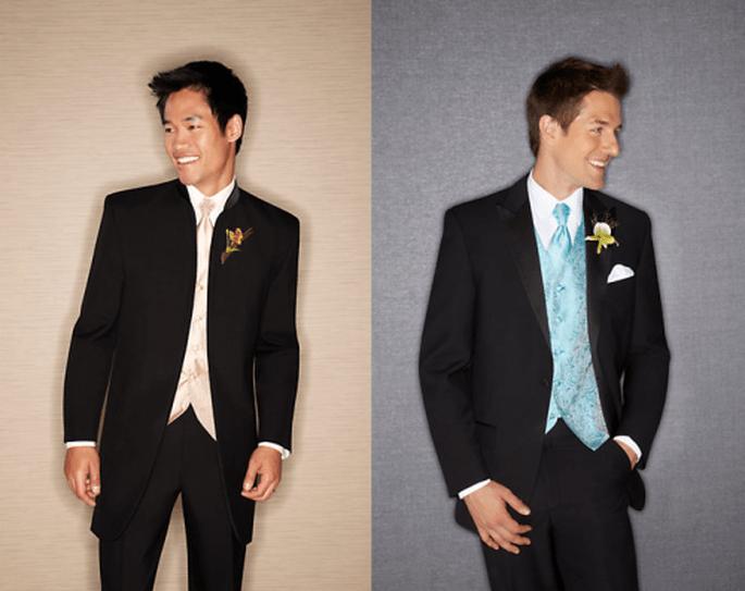 Esmoquin para novio con estilo casual y relejado - Foto Men's Wearhouse