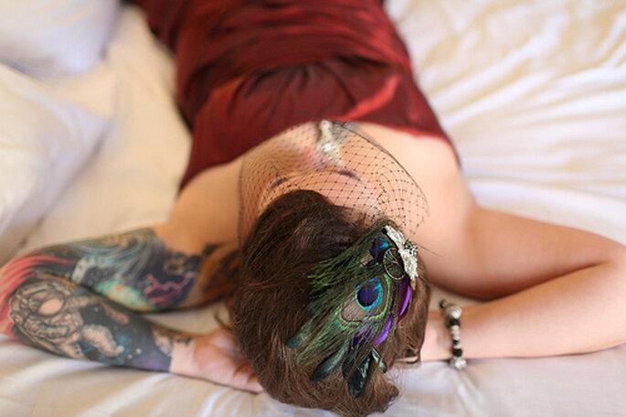 Novia con tatuaje