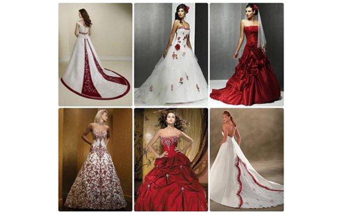 vestidos de novia. vestidos-de-novia-rojos