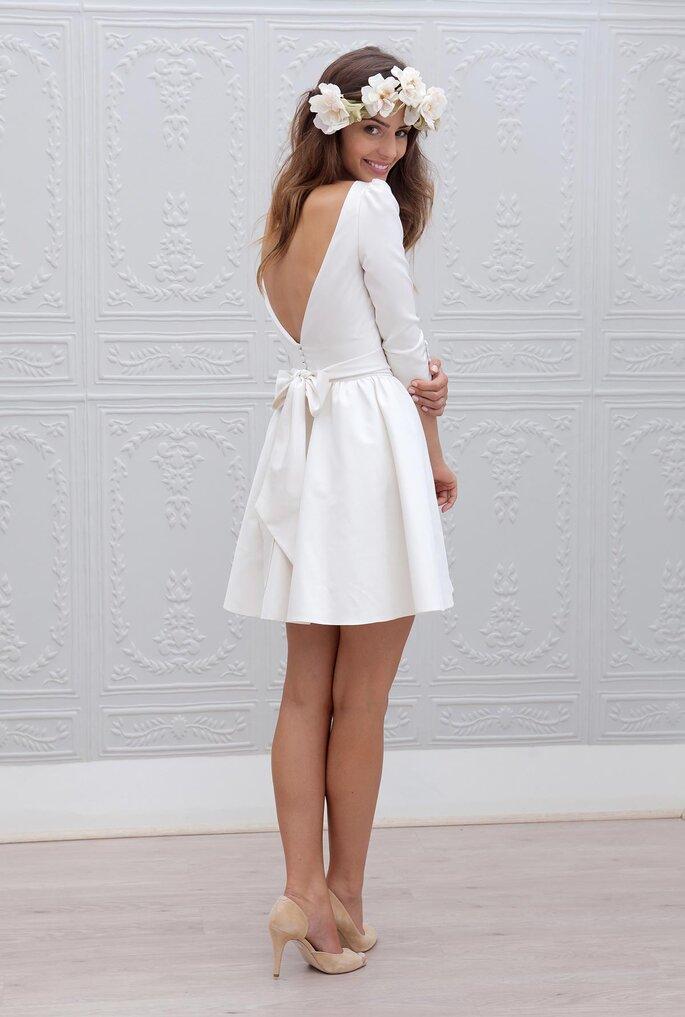 Robe de mariée bohème courte