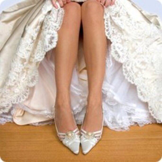 Los zapatos deben complementarse bien con el vestido