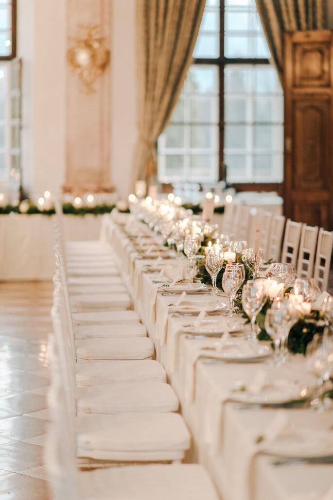 Dekoration klassisch Hochzeit im Schloss