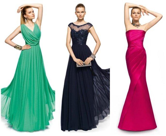 Belas roupas coloridas principais tendências Pronovias 2013. Foto www.pronovias.it