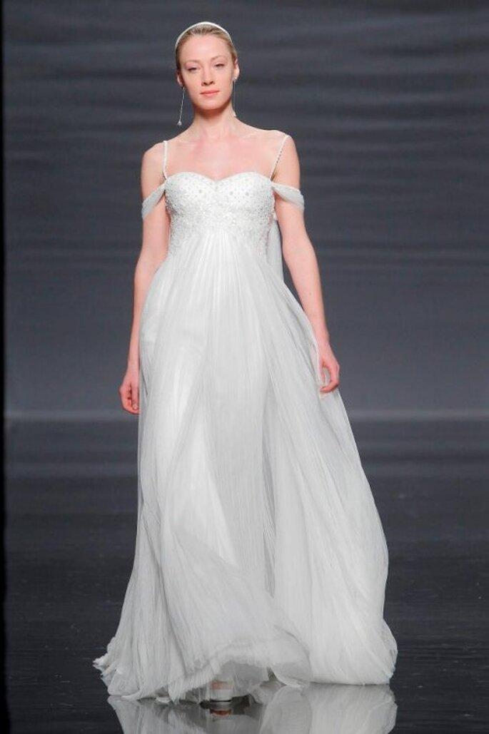 Vestido de novia con estilo griego - Foto Rosa Clará