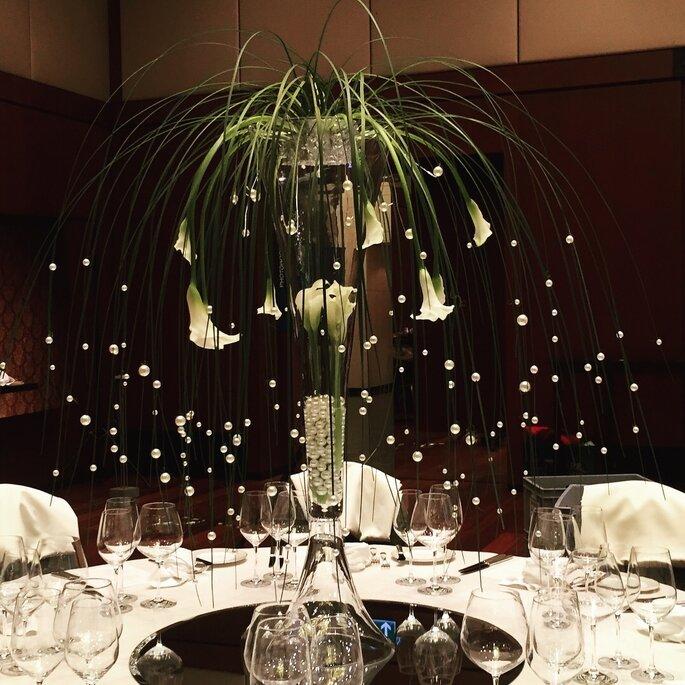 Dinner Tischdeko Luuniq Hochzeitsblumen & Dekoration