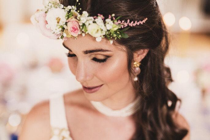 Braut nach dem Getting Ready, Brautstyling