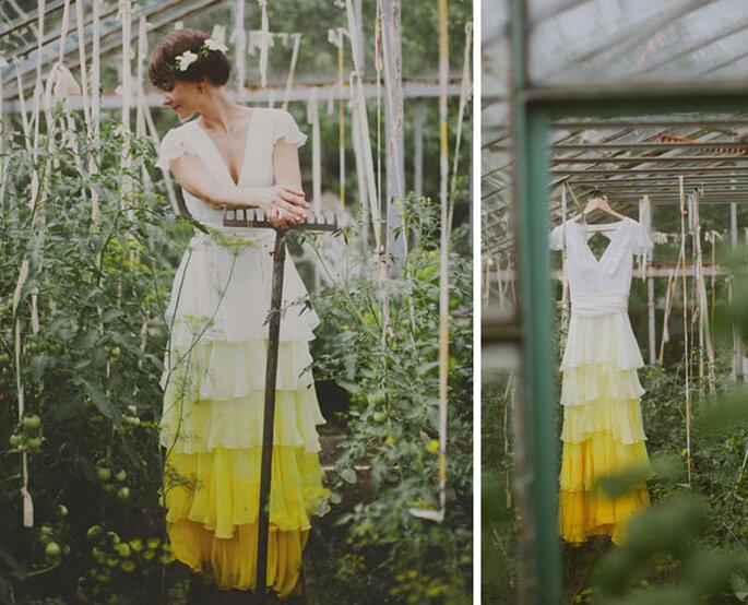 Vestidos de novia tie dye.
