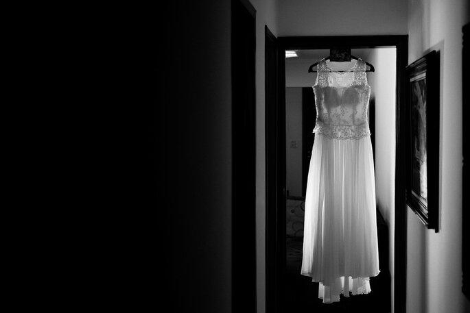 Vestido: feito pela costureira da noiva | Foto: Paolo Trentim
