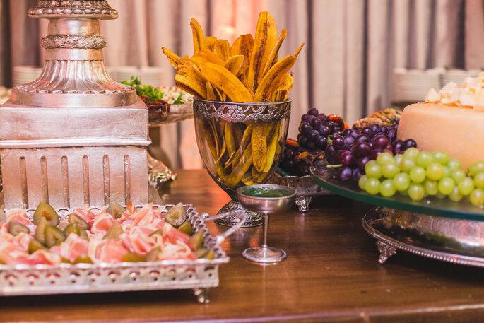 Menu para mesa de aperitvos no casamento
