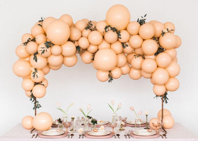 adornos para boda con globos