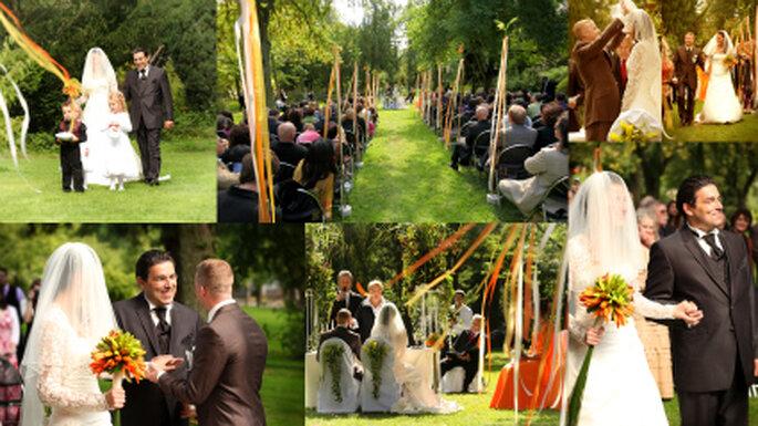 Hochzeits - Zeremonie im Freien