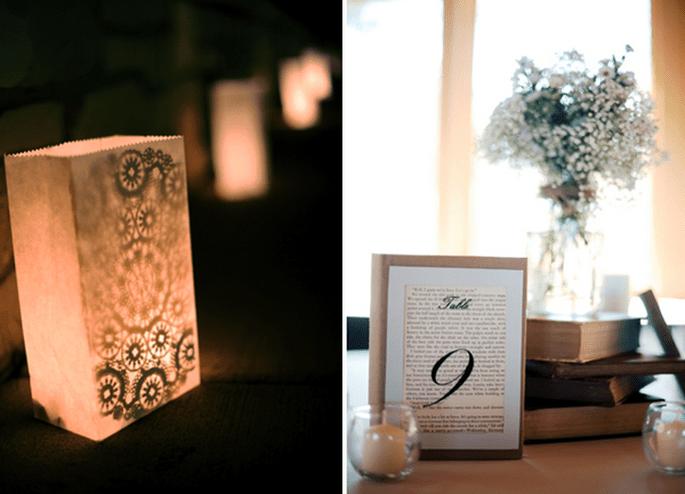 Libros en la decoración de tu boda - Foto Two Birds Photography